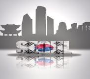 Ansicht von Seoul Lizenzfreies Stockfoto