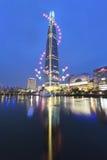 Ansicht von Seoul und von Feuerwerk Lizenzfreie Stockbilder