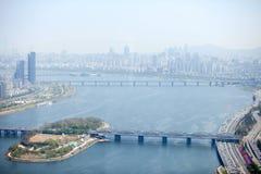 Ansicht von Seoul von 63 errichtend Stockfoto