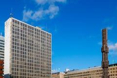 Ansicht von Sergerls Quadrat, Stockholm, Schweden Stockfotografie
