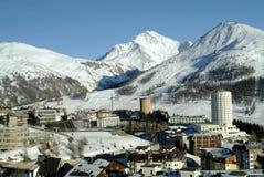Ansicht von Sestriere - Turin - Italien Stockbild