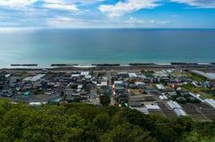 Ansicht von Shizuoka-Erdbeere bewirtschaftet entlang Pazifikküste Japan Stockfotos
