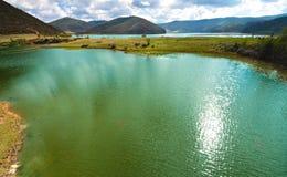 Ansicht von Shudu See am Shangri-La, Yunnan China Lizenzfreie Stockfotografie
