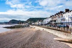 Ansicht von Sidmouth-Seeseite, Devon, England lizenzfreies stockbild