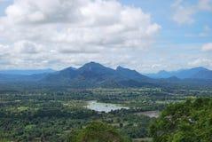 Ansicht von Sigiriya, Sri Lanka stockfotografie