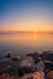 Ansicht von Simcoe See während des Sonnenaufgangs Lizenzfreie Stockbilder