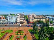 Ansicht von Soborna-Quadrat, Vinnytsia, Ukraine stockfotografie
