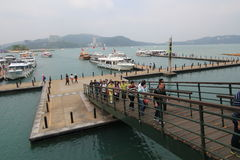 Ansicht von Sonne-Mond-See in Taiwan Lizenzfreie Stockfotografie