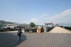 Ansicht von Sonne-Mond-See in Taiwan Lizenzfreies Stockbild