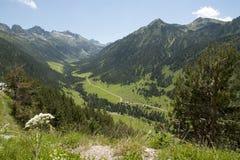 Ansicht von Spanien Pyrenees stockbilder