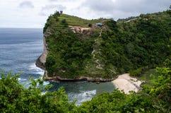 Ansicht von Spitze zu Atuh-Strand, Nusa Penida Bali, Indonesien Lizenzfreies Stockfoto