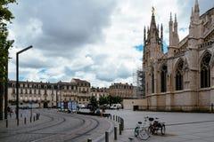 Ansicht von St. Andrew Cathedral im Bordeaux stockbild