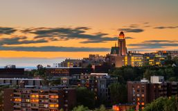 Ansicht von St- Joseph` s Rhetorik in Montreal stockfoto