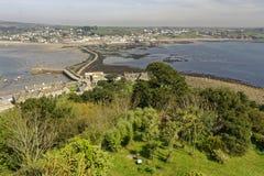 Ansicht von St Michaels Mount Cornwall England stockfotografie