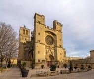 Ansicht von St Nazaire Cathedral in Beziers, Frankreich lizenzfreie stockfotografie