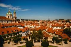 Ansicht von St. Nicholas Church in Prag-Schloss, lizenzfreies stockbild