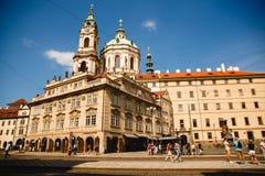 Ansicht von St. Nicholas Church in Prag, Tschechische Republik stockfoto