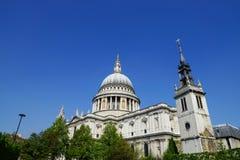 Ansicht von St Paul Kathedrale Stockbilder