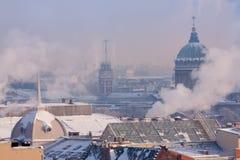 Ansicht von St Petersburg von der Kolonnade Lizenzfreies Stockbild
