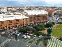 Ansicht von St Petersburg von der Spitze Stockfotos