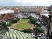 Ansicht von St Petersburg von der Spitze Stockfotografie