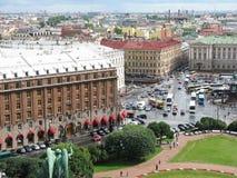 Ansicht von St Petersburg von der Spitze Lizenzfreie Stockfotografie