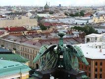 Ansicht von St Petersburg von oben Stockfotos