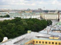 Ansicht von St Petersburg von oben Lizenzfreies Stockfoto