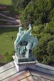 Ansicht von St- Petersburgstadt, Russland, von der Dachspitze des Heiligen Isaak Cathedral Lizenzfreie Stockbilder