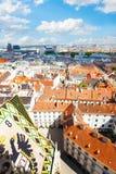 Ansicht von St Stephen Kathedrale über Wien Lizenzfreie Stockbilder
