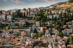 Ansicht von Stadtbild in Granada, Spanien Lizenzfreies Stockbild