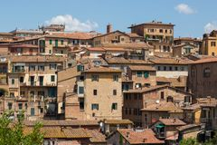 Ansicht von Stadtbild von Siena, Italien Lizenzfreie Stockbilder