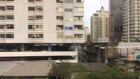 Ansicht von Stadtlandschaft in Bangkok, Thailand stock video