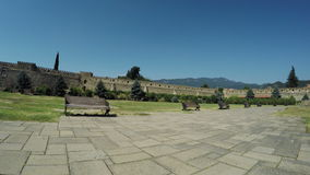 Ansicht von Steinwand Mtskheta Georgia Ancient stock video