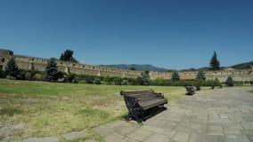 Ansicht von Steinwand Mtskheta Georgia Ancient stock video footage