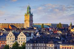 Ansicht von Stockholm Schweden lizenzfreie stockbilder