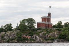 Ansicht von Stockholms Kastellholmen Lizenzfreie Stockfotos