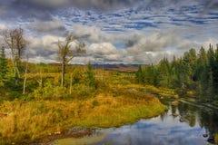 Ansicht von Straße Adirondack Loj Lizenzfreie Stockfotos