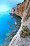 Ansicht von Strand Porto Katsiki, Griechenland lizenzfreies stockbild