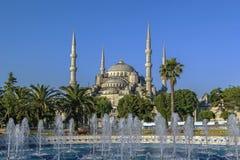 Ansicht von Sultan Ahmed Mosque, Istanbul lizenzfreie stockfotos