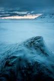 Ansicht von Svalbardhytta lizenzfreie stockfotografie