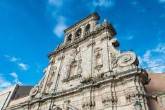 Ansicht von Syrakus, Ortiggia, Sizilien, Italien, Gebäudegegenüberstellen Lizenzfreie Stockbilder