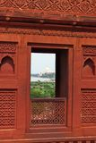 Ansicht von Taji Mahal von Agra-Fort Lizenzfreies Stockbild