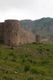 Ansicht von Tapi-Festung von Gevorg Marzpetuni in Armenien Stockbilder