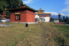 Ansicht von Tashiding-Kloster Lizenzfreies Stockfoto