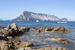 Ansicht von Tavolara, Sardinien, Italien Lizenzfreies Stockbild