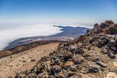 Ansicht von Teleferico des Bergs Teide, Nationalpark Teide, Teneriffa, Kanarische Inseln, Spanien stockfotos