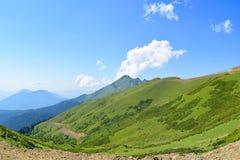 Ansicht von Terri Hütte, Greina, die Schweiz Stockfoto