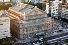 Ansicht von Theater ColÃ-³ n, das wichtigste Theater in Buenos Aires, Argentinien, 18. von Februar von 2017 Lizenzfreie Stockfotos