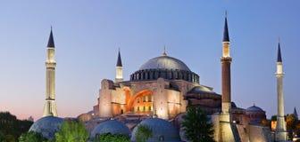 Ansicht von theHagia Sofia nachts in Istanbul, die Türkei Stockfotos